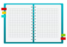 Blue notebook Royalty Free Stock Photo