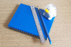 Blue notebook Royalty Free Stock Photography