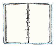 Blue notebook vintage cute hand drawn Royalty Free Stock Photo