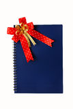 Blue Notebook on the white. Royalty Free Stock Photos