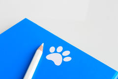 Blue notebook Royalty Free Stock Images