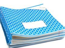 Blue notebooks Stock Image