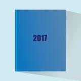 Blue Noten für 2017 mit einem Schatten Lizenzfreies Stockbild