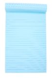 Blue notepaper Stock Images