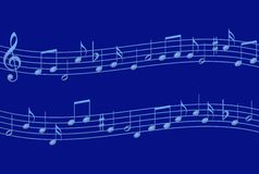 Blue Notes Royalty Free Stock Photography