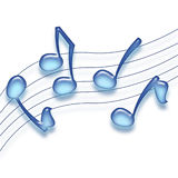 Blue Notes royalty free illustration