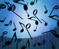 Blue Notes Background Texture Stock Image