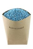 Blue NPK compound Fertilizer Royalty Free Stock Photography