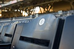 Blue Number 8 Stadium Seat Royalty Free Stock Photography
