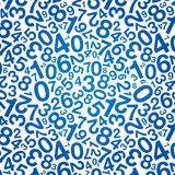 Blue number background Stock Image