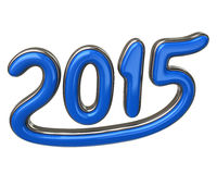 Blue number 2015 Stock Photos