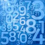Blue number science background. Illustration Royalty Free Stock Photo