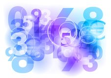 Blue numbers Royalty Free Stock Image