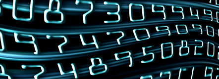 Blue numbers Royalty Free Stock Photo