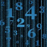 Blue numbers background. Illustration of blue numbers background Royalty Free Stock Photography
