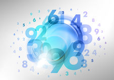 Blue numbers Stock Photos