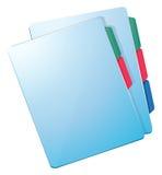 Blue nurse files vector illustration