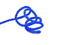 Blue nylon rope Stock Photo