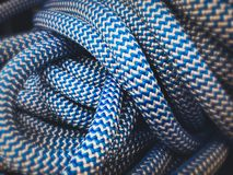 Blue Nylon Rope Scene Abstract Wallpaper Backgrounds Royalty Free Stock Image