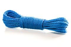 Blue nylon utility rope equipment object  Stock Images