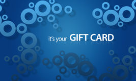 Blue object Giftcard Stock Images