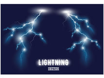 Blue oblique lightning lines. Royalty Free Stock Photography