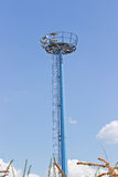 Blue observation tower Stock Photo