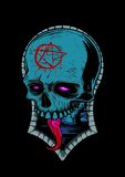 Blue Occult Skull Stock Images