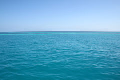 Blue ocean. Landscape of empty blue ocean Royalty Free Stock Photos