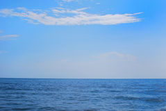 Blue Ocean. The Cha-am Beach of Thailand Royalty Free Stock Image