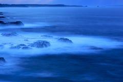 Blue Ocean. A Blue Ocean Seascape with rocky coast in the water in ocean.Phillip Island.Melbourne, Australia stock photos