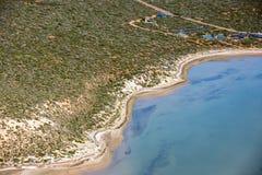 Blue ocean aerial view in shark bay Australia Stock Photos