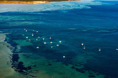 Blue ocean aerial view in shark bay Australia Stock Photos