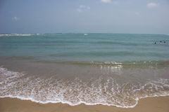 Blue Ocean Beach in the Gulf of Mannar stock photo