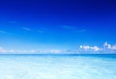 Blue Ocean and Clear Sky Stock Photos