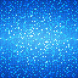 Blue Ocean Disco Matrix Background. Background with blue and white mosaic stock illustration