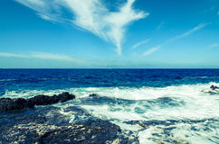 Blue ocean horizon Stock Images