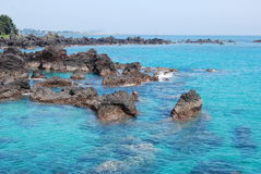 Blue ocean, Jeju Island Royalty Free Stock Photography