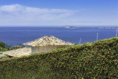 Blue ocean in Rio De Janeiro stock images