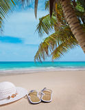 Sandals on a Beach Stock Photography