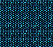 Blue Ocean, Sequins Seamless Pattern. Abstract Vector Background. Royalty Free Stock Photography
