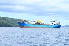 Blue ocean ship Royalty Free Stock Photography