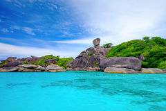 Blue Ocean at Similan Island Thailand. Blue Ocean and White Beach at Similan Island Thailand royalty free stock photos