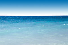Blue ocean and sky. Beautiful landscape of blue clam ocean and sky Royalty Free Stock Image