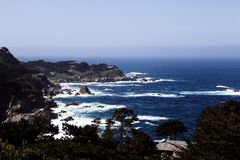 Rocky Coast Pacific Ocean Carmel Highlands California Stock Photo