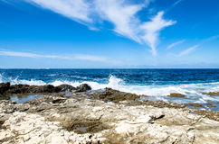 Blue ocean and sky Royalty Free Stock Photography