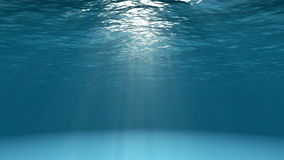 Blue ocean surface seen from underwater stock illustration