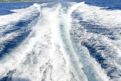 Blue ocean and trail Stock Photography