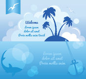 Blue ocean travel background Stock Photography