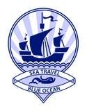 Blue ocean travel Royalty Free Stock Photos